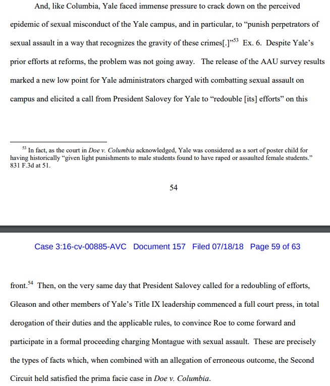 brief--Yale--like Columbia--acted amidst intense media-activist pressure