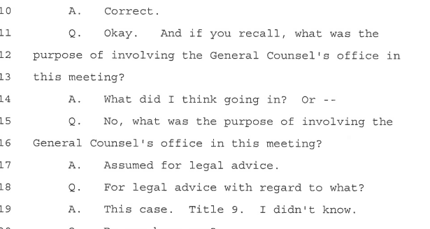 Gleason depo--genl counsel office also part of TIX officials re Montague