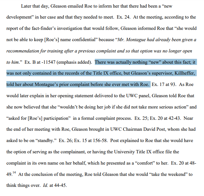 Montague brief--summary of key meeting--new info that wasnt new-careful planning by TIX office